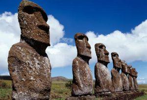 curiosità sull'isola di Pasqua teste Moai